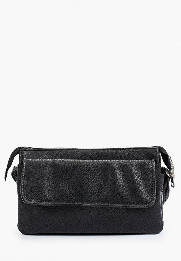 женская сумка через плечо медведково, черная
