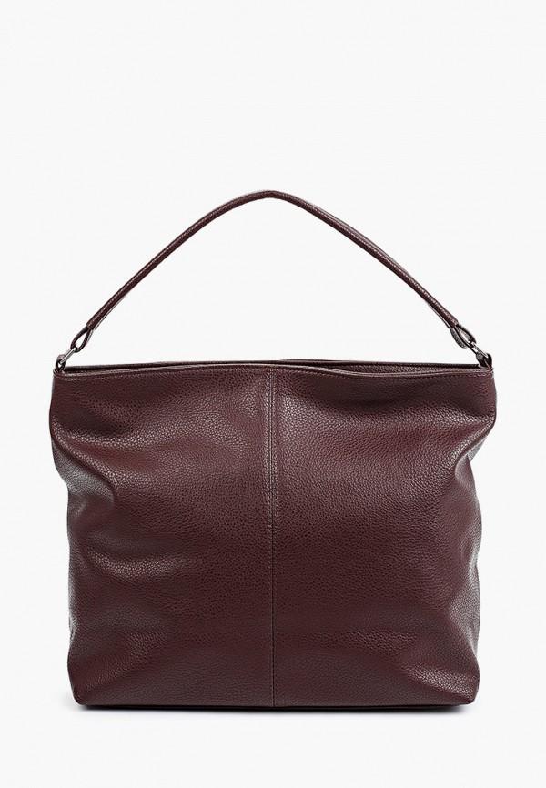 женская сумка с ручками медведково, бордовая