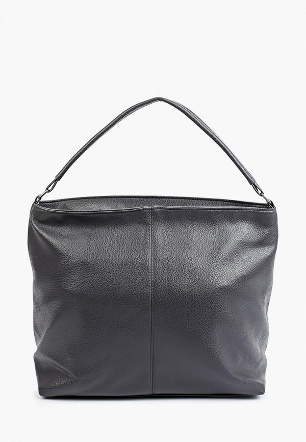 женская сумка с ручками медведково, серая