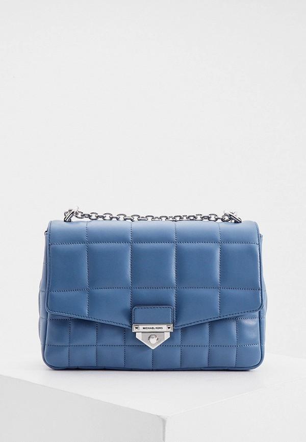женская сумка через плечо michael kors, синяя