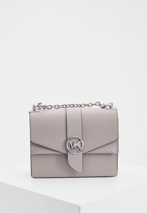 женская сумка с ручками michael kors, серая