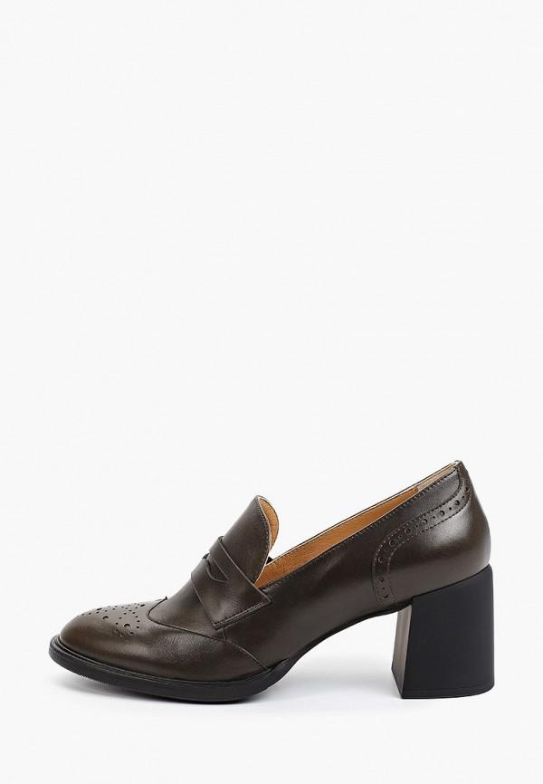 женские туфли с закрытым носом giotto, хаки