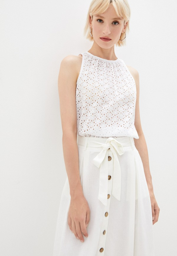 женская блузка без рукавов ruxara, белая