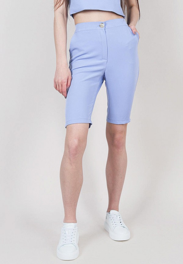 женские повседневные шорты romashka, синие