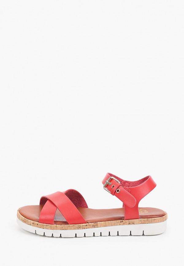 женские сандалии inario, красные
