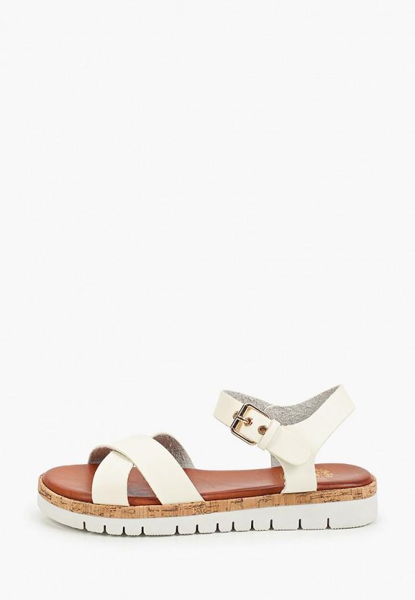 женские сандалии inario, бежевые