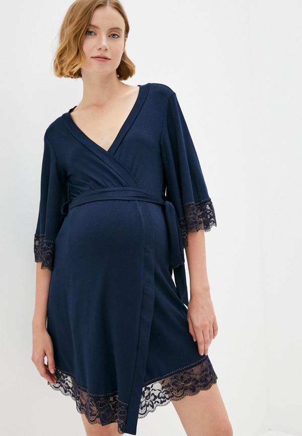 женский халат fest, синий