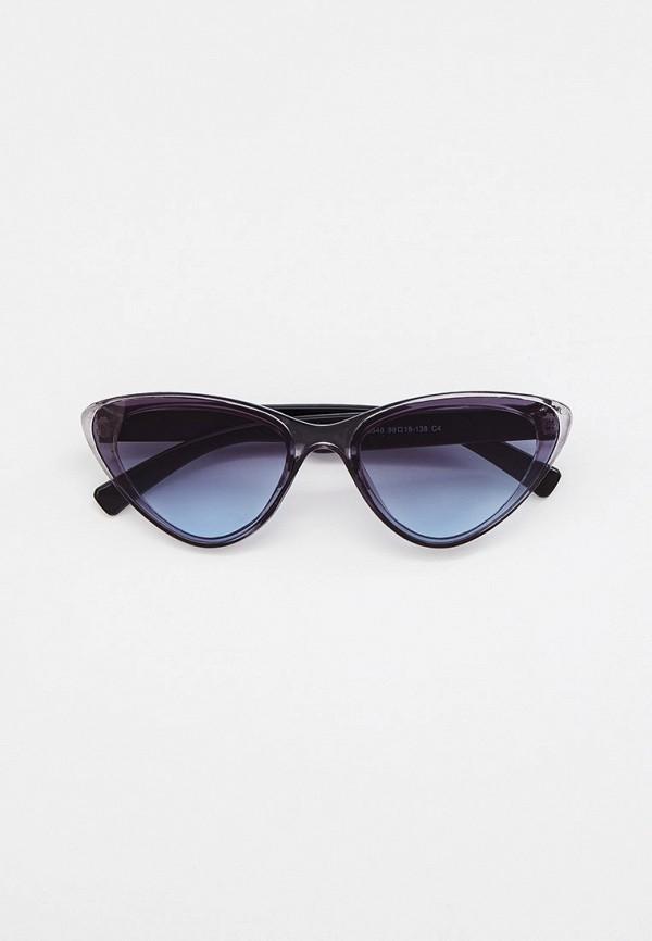 женские солнцезащитные очки кошачьи глаза beautyparad, серые