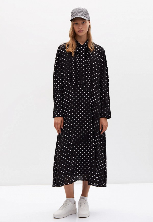 женское повседневные платье lime, черное
