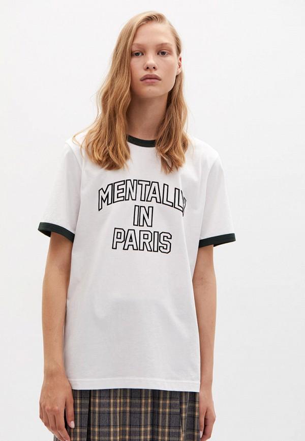 женская футболка lime, белая