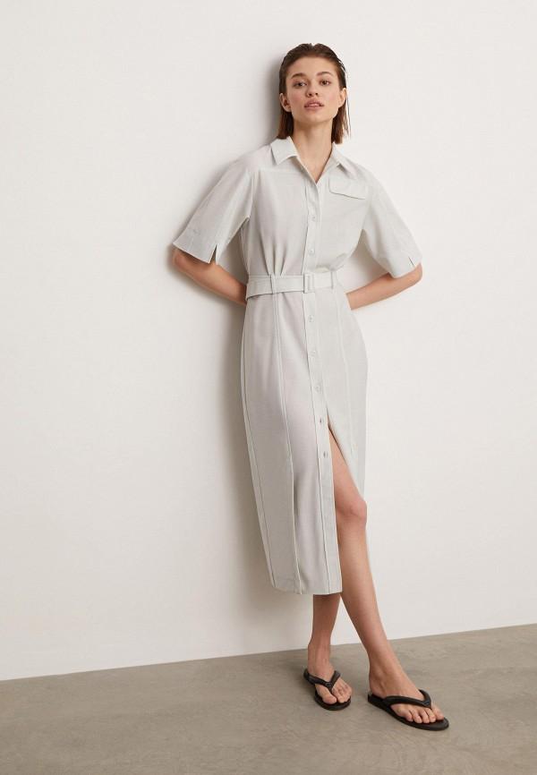 женское платье-рубашки 12storeez, серое