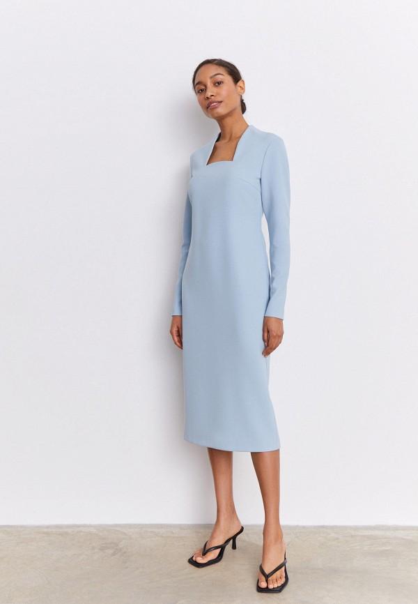 женское платье-футляр 12storeez, голубое