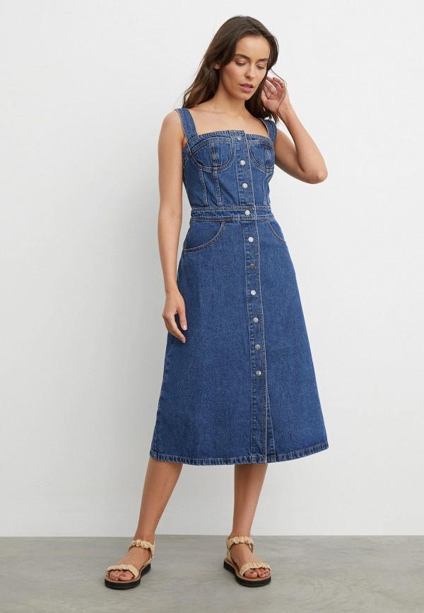 женское джинсовые платье 12storeez, синее