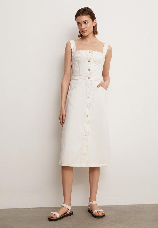 женское джинсовые платье 12storeez, белое