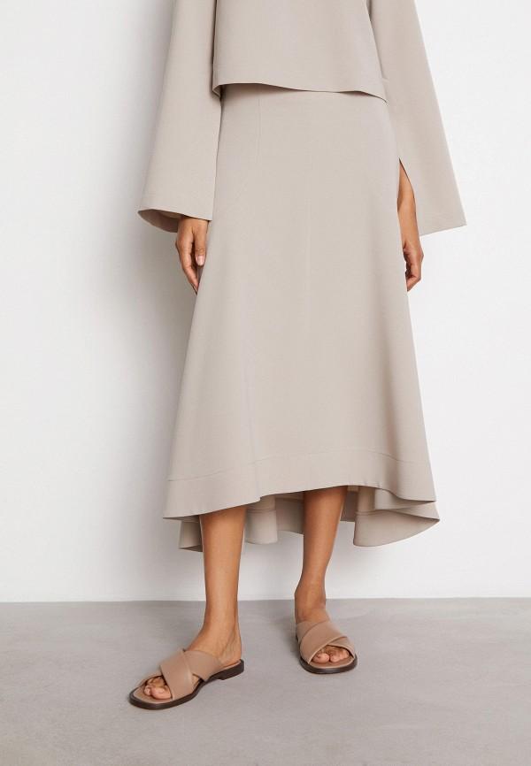 женская юбка-трапеции 12storeez, бежевая