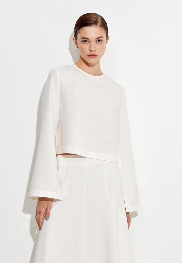 женская блузка с длинным рукавом 12storeez, белая