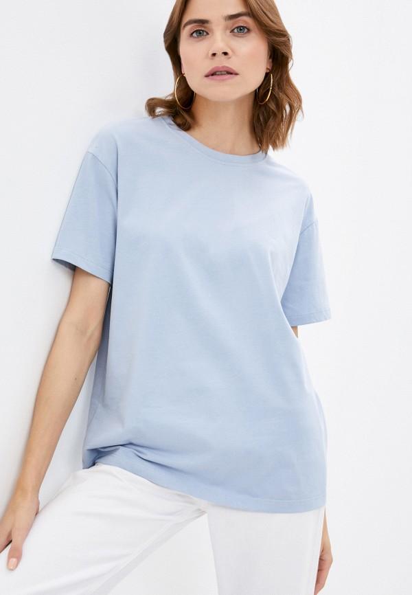 женская футболка mollis, голубая