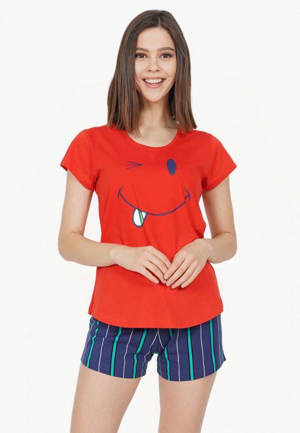 женская пижама vienetta, разноцветная