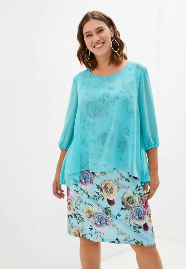 женское повседневные платье ckc collections, бирюзовое