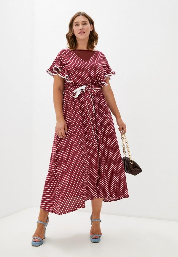 женское повседневные платье ckc collections, бордовое