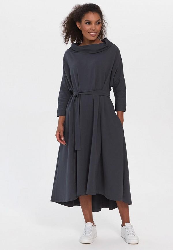 женское повседневные платье bornsoon, серое
