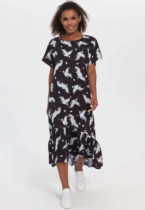 женское платье-футболки bornsoon, черное