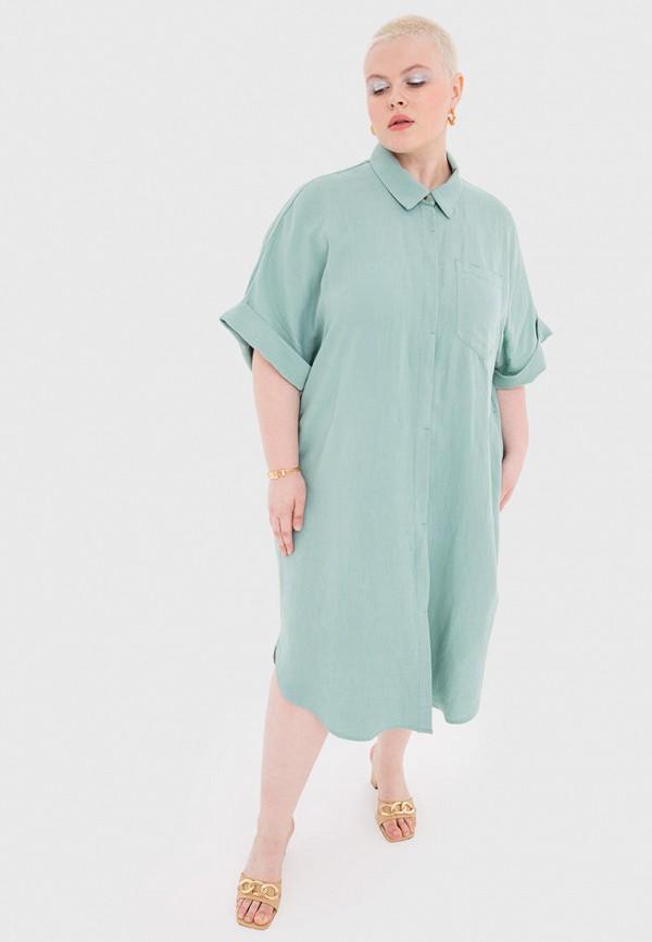 женское платье-рубашки w&b, бирюзовое