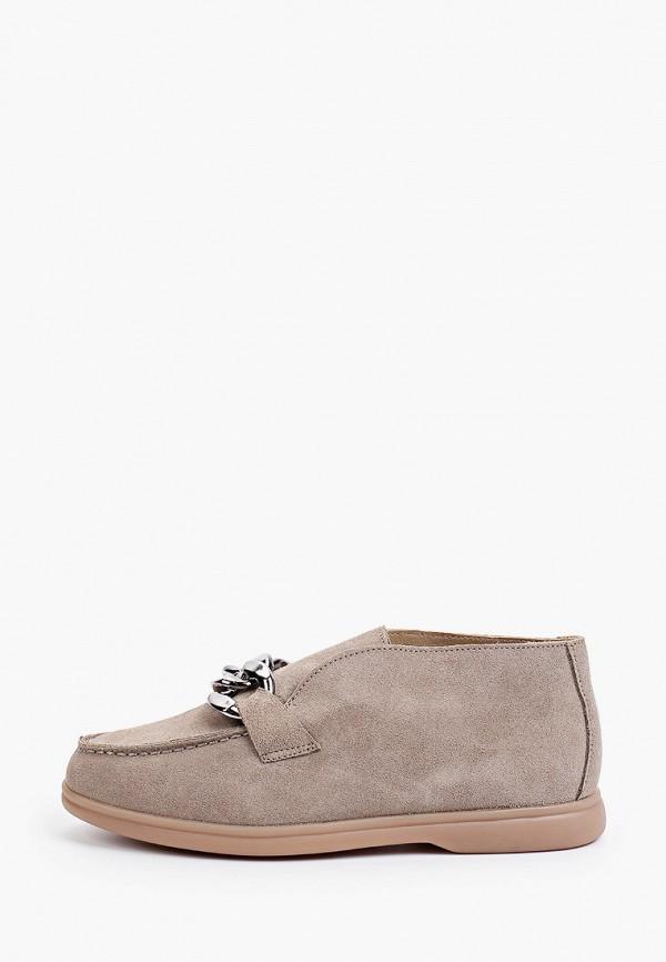 женские высокие ботинки grand style, бежевые