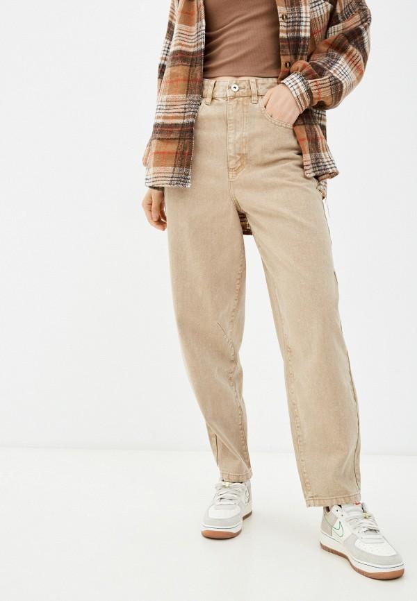 женские брюки клеш befree, бежевые