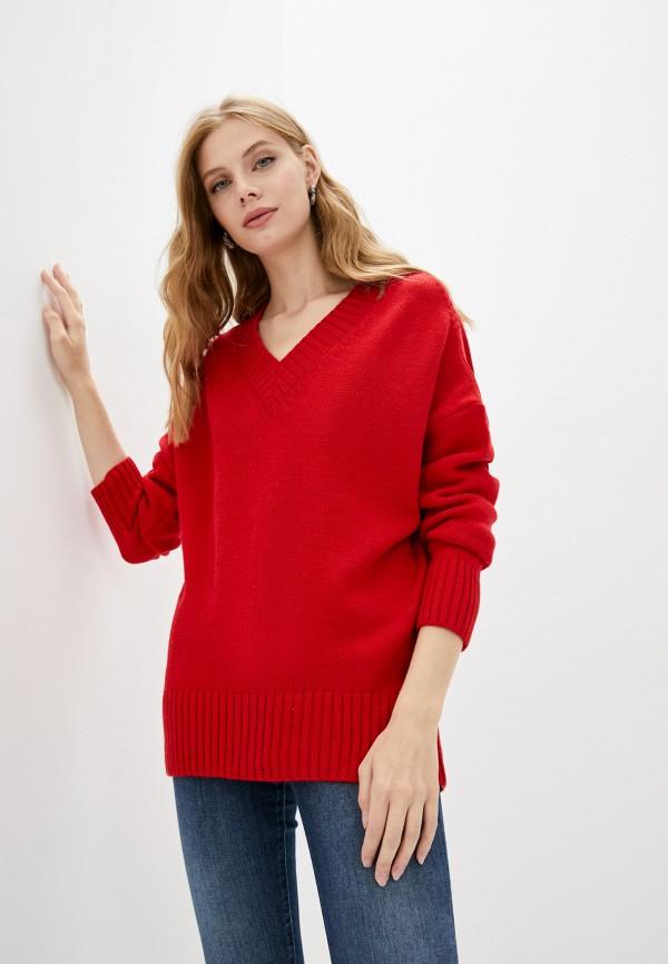 женский пуловер victoria solovkina, красный