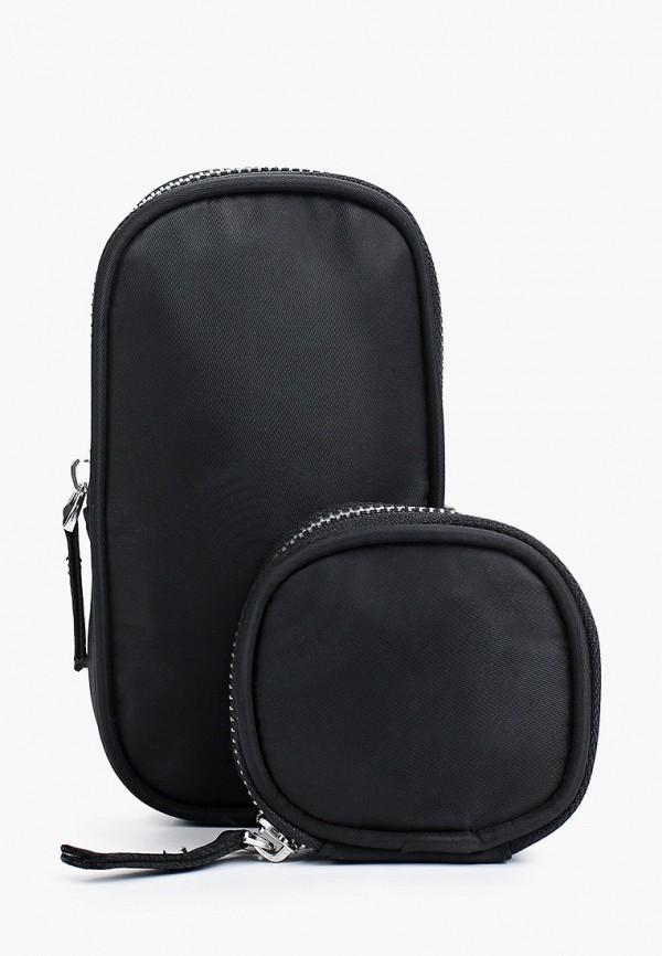 женский кошелёк через плечо befree, черный