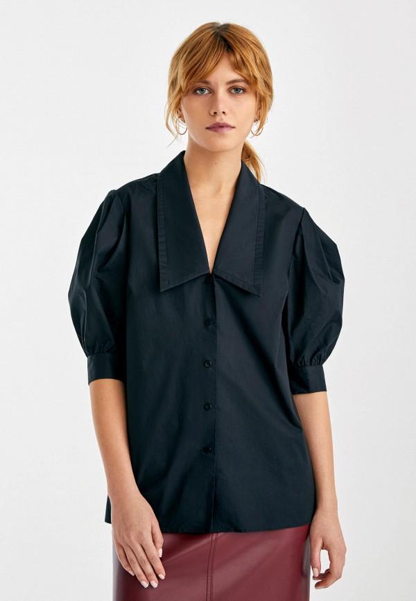 женская блузка с коротким рукавом i am studio, черная