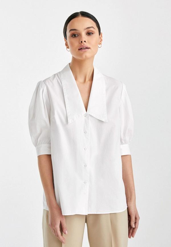 женская блузка с коротким рукавом i am studio, белая