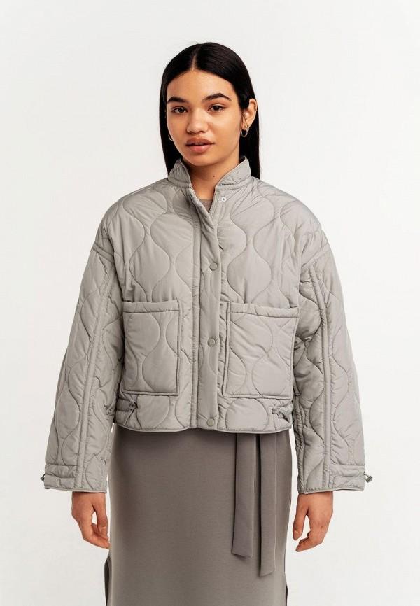 женская утепленные куртка befree, серая
