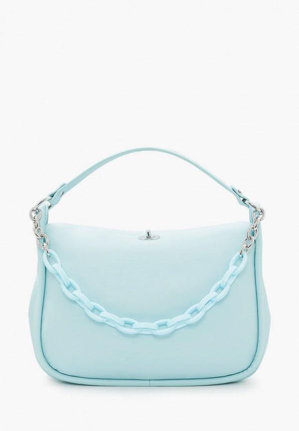 женская сумка с ручками marco bonne', голубая