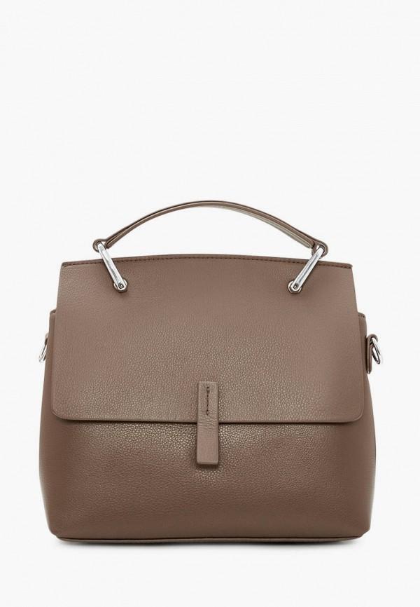 женская сумка через плечо marco bonne', коричневая