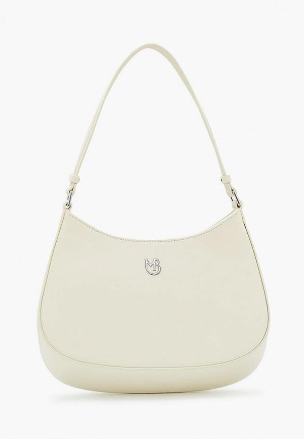 женская сумка с ручками marco bonne', белая