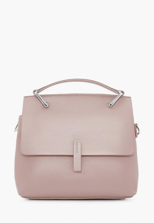 женская сумка через плечо marco bonne', розовая