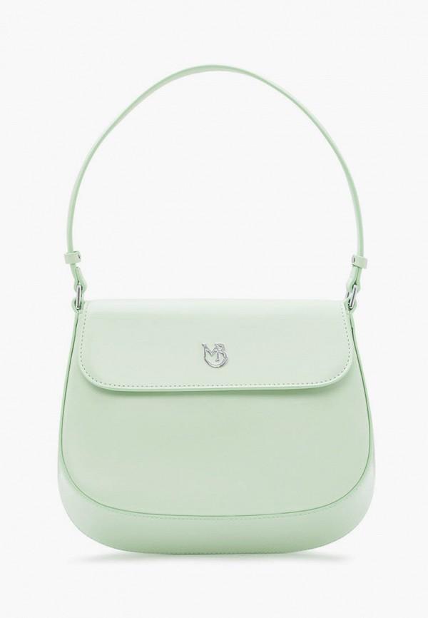 женская сумка с ручками marco bonne', зеленая
