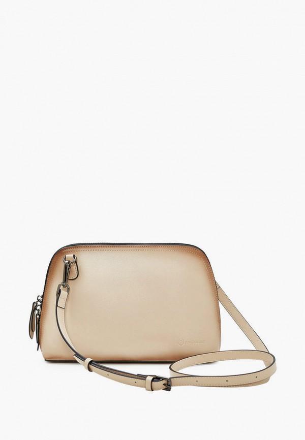 женская сумка через плечо marco bonne', бежевая
