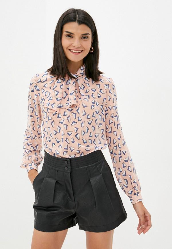 женская блузка арт-деко, розовая