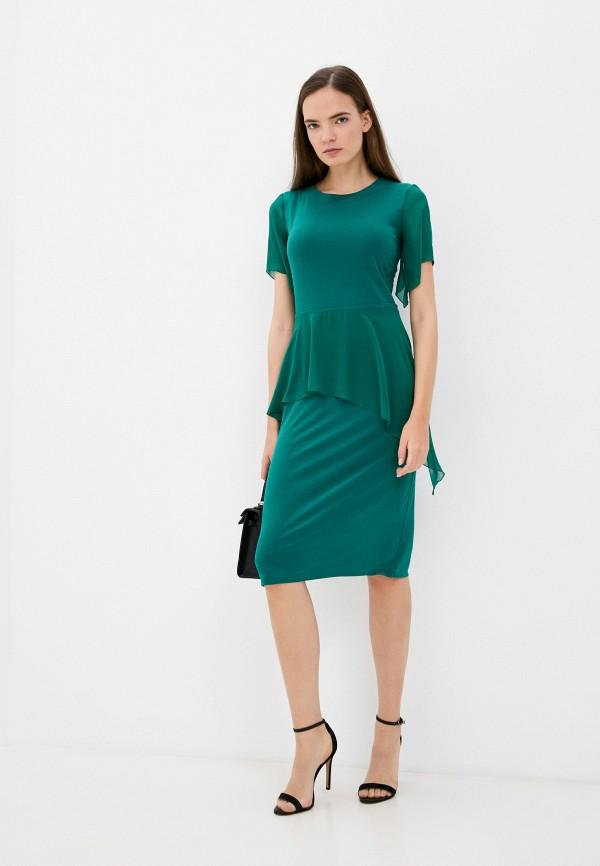 женское повседневные платье арт-деко, зеленое
