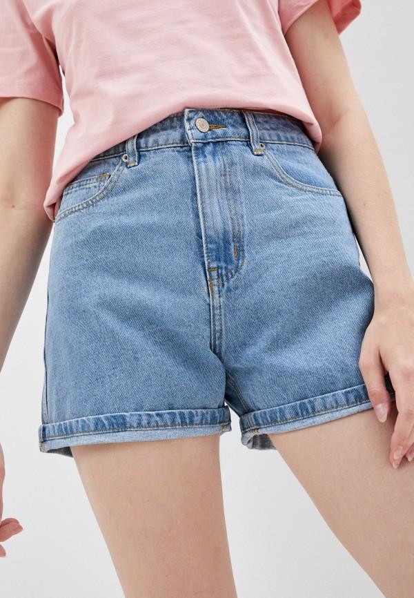 женские джинсовые шорты mark formelle, голубые