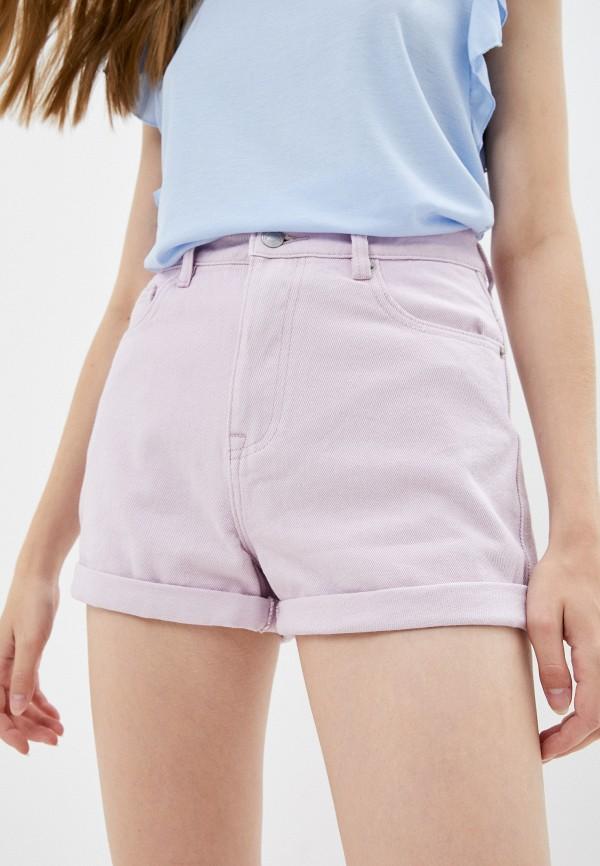 женские джинсовые шорты mark formelle, фиолетовые
