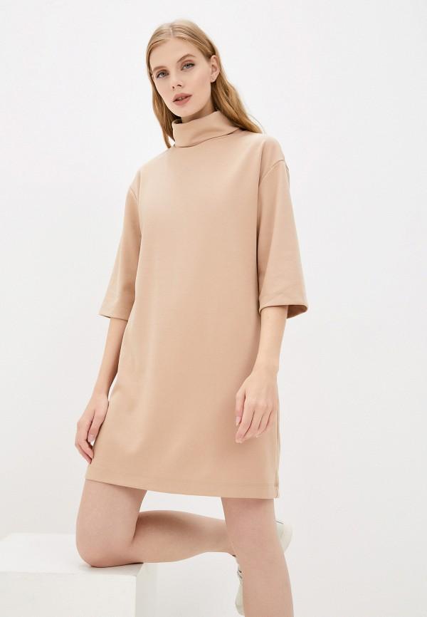 женское повседневные платье mark formelle, бежевое