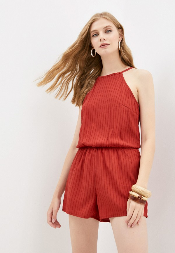 женский комбинезон с шортами mark formelle, бордовый