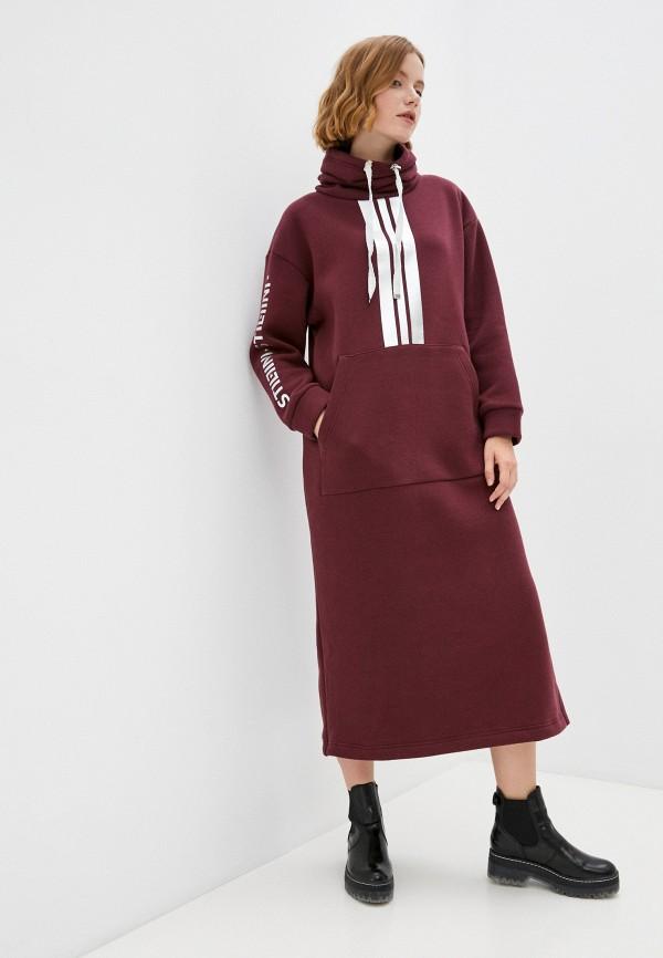 женское платье-толстовки stillini, бордовое