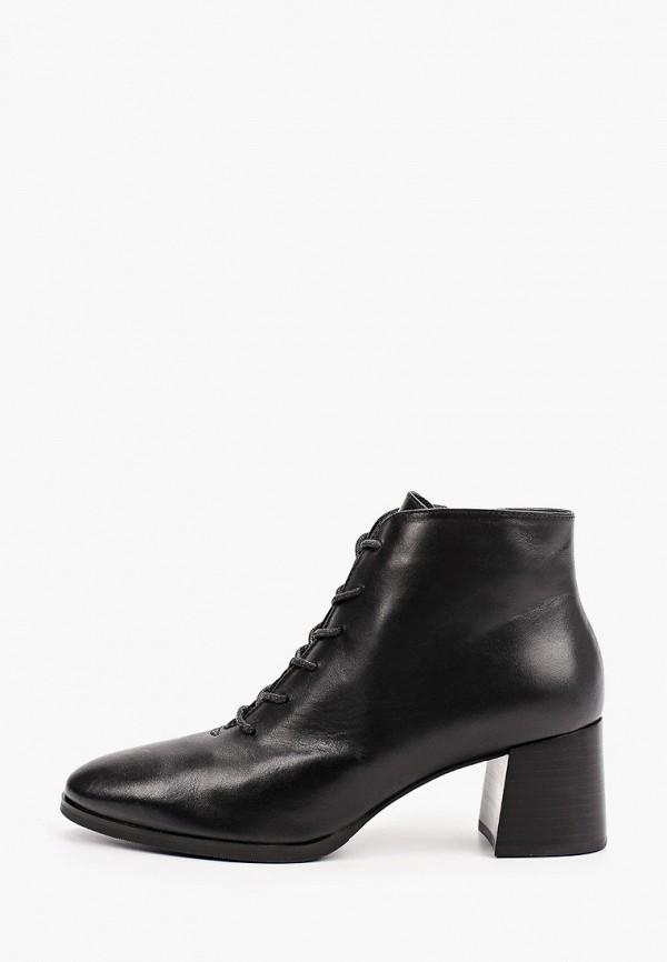 женские высокие ботильоны giotto, черные