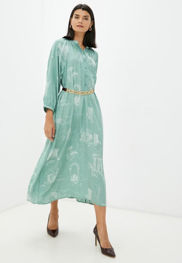 женское платье-рубашки concept club, бирюзовое