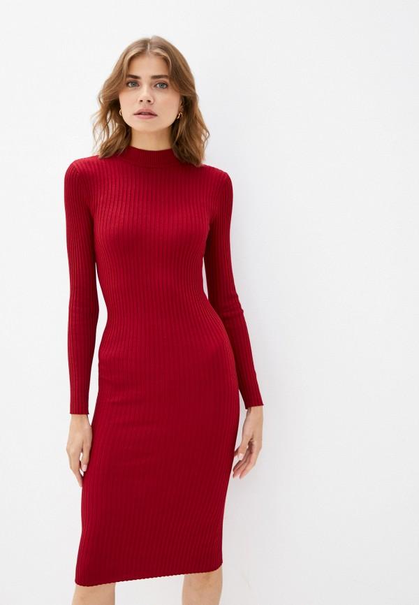 женское платье-свитеры concept club, бордовое